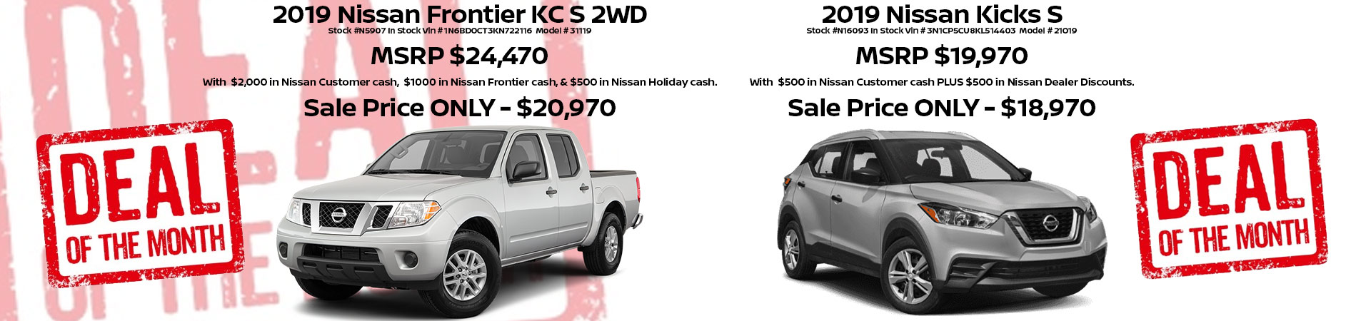 Nissan Frontier and Kicks Special